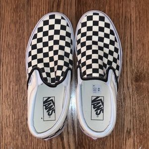 Vans Shoes - White Checkered Vans